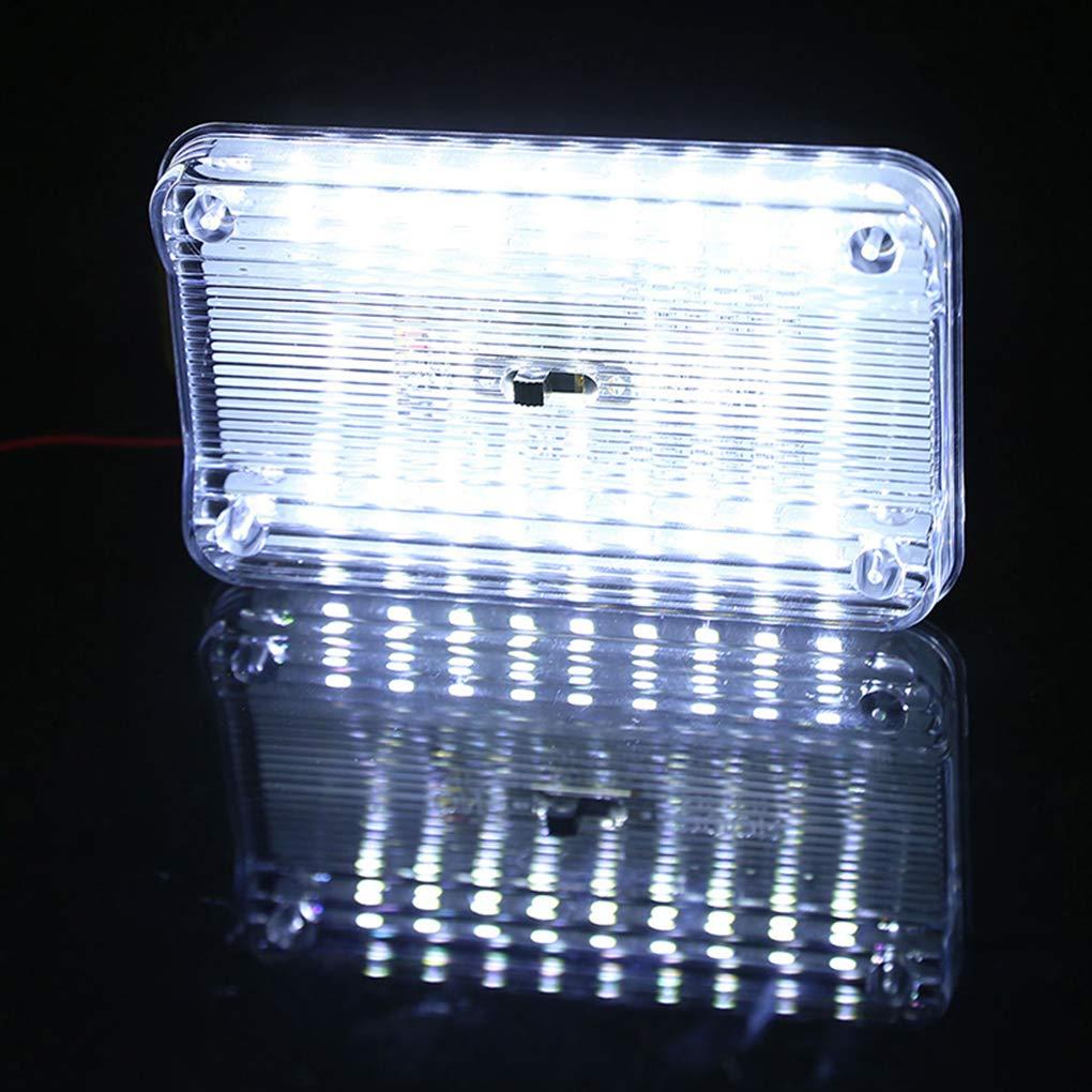 Kongnijiwa 12V 36 LED Voiture Automatique D/ôme Plafonnier int/érieur rectangulaire Blanc Lampe de Lecture Accessoires Voiture