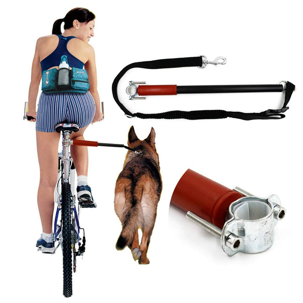 FXQIN Dog Bicycle Exerciser Leash - Hands Free Bicycle Dog Leash Attachment, for Running Exercising Training Walking Jogging