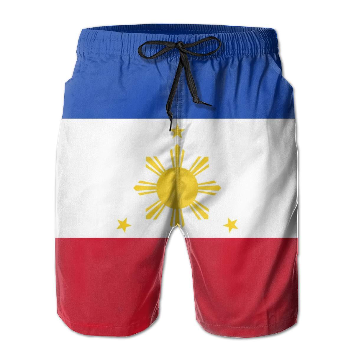 FRS Ltd A Tricolour Flag Mens Quick Dry Beach Board Elastic Waist Shorts