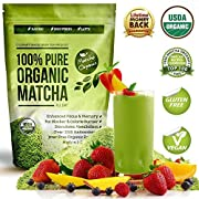 Amazon Lightning Deal 98% claimed: 100% USDA Organic Matcha Green Tea Powder Extract - Fat Burner & Weight Loss Diet Supplement & Metabolism Booster - Natural Detox All Day Energy & Mental Focus - Latte, Smoothie, Shake & Baking Mix - Improved Hair & ...
