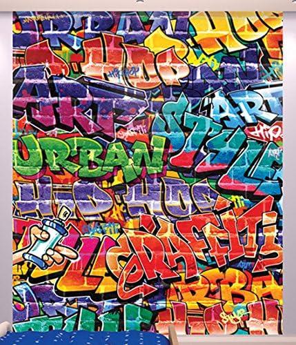 Carta Da Parati Murales.Walltastic Graffiti Carta Da Parati Murale Multicolore 12x6x52 5 Cm Amazon It Casa E Cucina