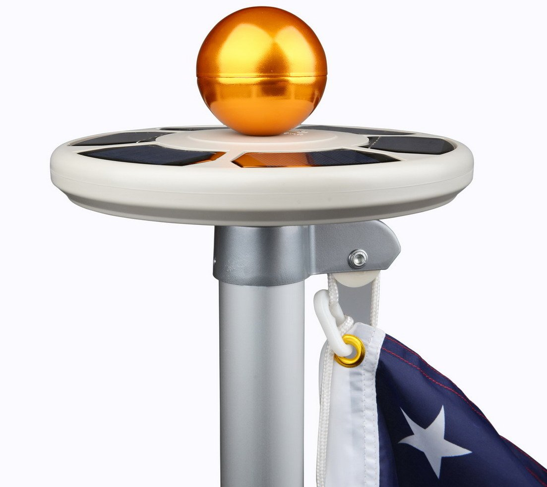 Amazon sunnytech 3rd generation solar power flag pole amazon sunnytech 3rd generation solar power flag pole flagpole light upgraded ufo design advanced sensor enhanced solar batteries panels arubaitofo Image collections