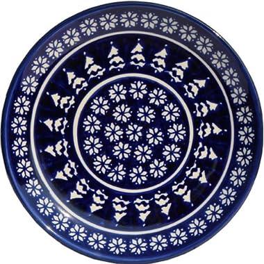 Polish Pottery Plate 7.5 Inch From Zaklady Ceramiczne Boleslawiec #Gu-814-243a Traditional Pattern, 7.5 Inch Diameter