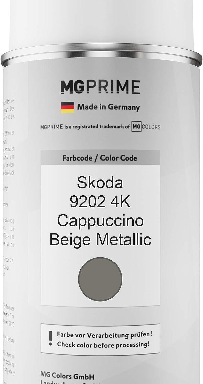 Mg Prime Autolack Sprühdosen Set Für Skoda 9202 4k Cappuccino Beige Metallic Basislack Klarlack Spraydose 400ml Auto