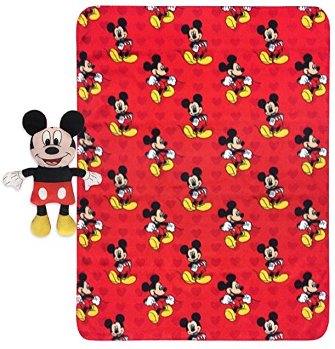 Blanket Mickey Mouse (Disney Mickey Mouse Travel Snuggle Set)