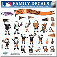 MLB Baltimore Orioles Large Family Decal Set