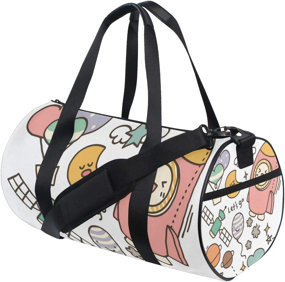 MALPLENA Lets Go High Drum gym duffel bag women Travel Bag