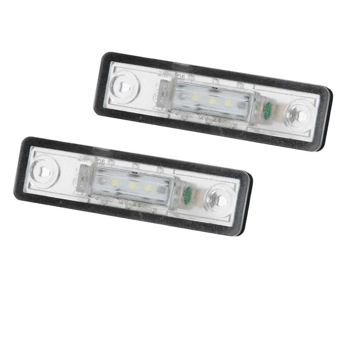ECD Germany 2x Indicateurs LED pour plaque d'immatriculation Blanc xé non 6000K 2835SMD 12-14 Volts