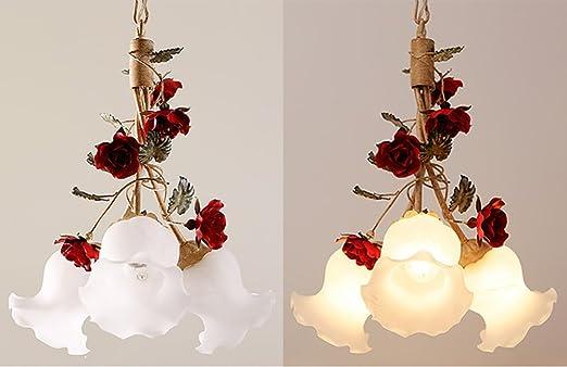 Kronleuchter Mit Blumen ~ Jilan home pastoral eisen kronleuchter kreativ retro blumen licht