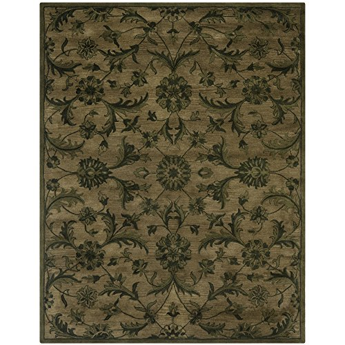 Safavieh Antiquities Collection AT824A Handmade Traditional Olive and Green Wool Area Rug (5' x - Rectangular Olive Area Rug