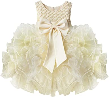 CHICTRY Baby Girl Infant Princess Ruffles Birthday Party Wedding Pageant Tutu Flower Dress