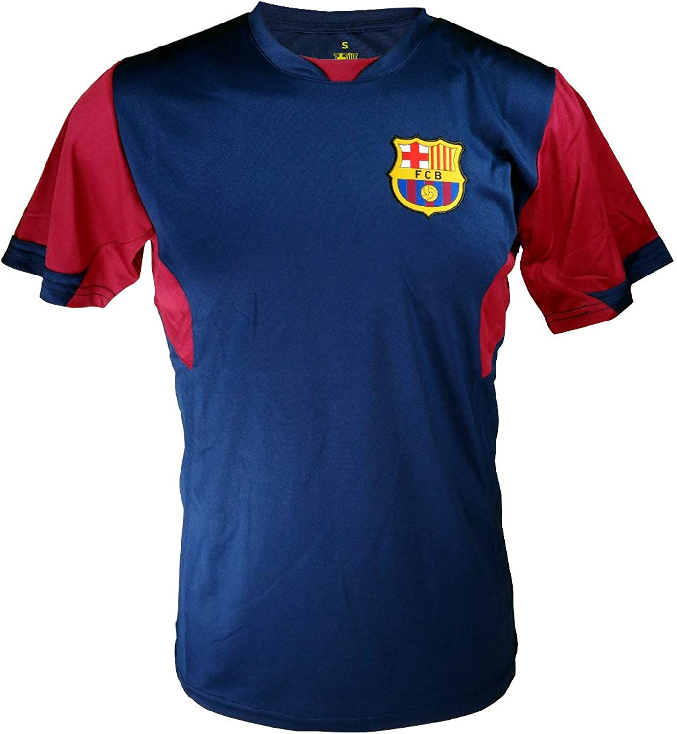 Icon Sports Men FC Barcelona Officially Licensed Soccer Poly Shirt Jersey -11