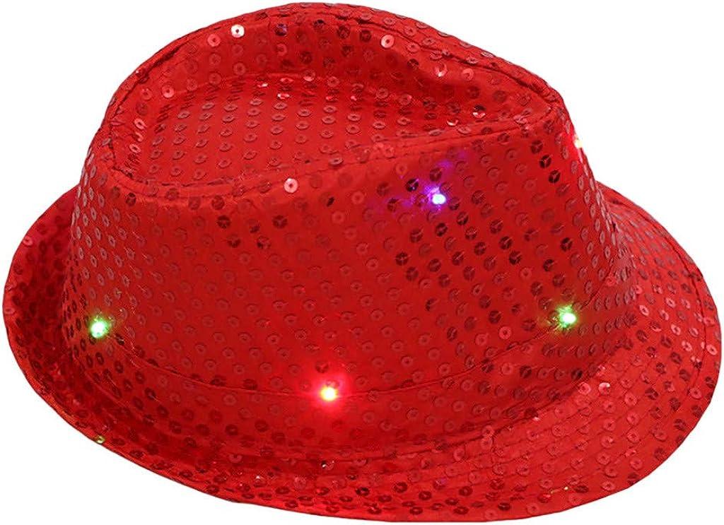MEANIT LED Fedora Hats LED...