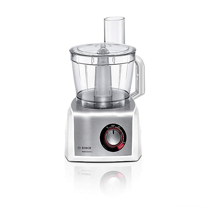 Bosch MC812S820 MultiTalent 8 - Procesador de alimentos / robot de cocina, 1.250 W, 3.9 litros de capacidad, multi-accesorios, color blanco y acero ...