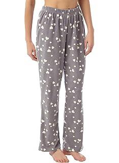 f7f8009951 i-Smalls Damen Fleece Pyjama-Anzug Sanft und Warm mit Hasen Aufdruck ...