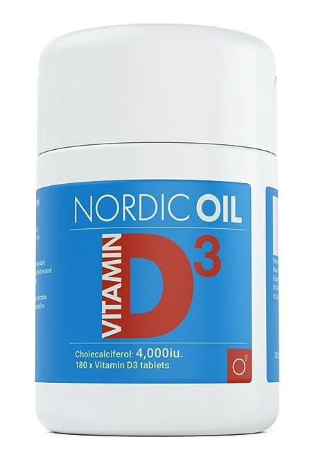 Vitamina D3 4.000 IU - 180 comprimidos vegetarianos, producto alemán ...