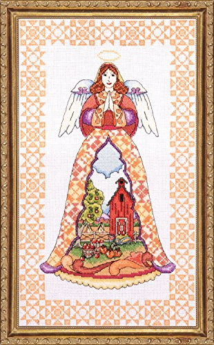 Tobin DW2812 14 Count Counted Cross Stitch Kit, 9 by 15-Inch, Autumn Angel-Jim Shore ()