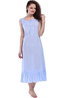 b85378d24a Miss Lavish London Victorian Style Nightgown Sleeveless Long Sleepwear Women …