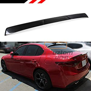 Cuztom Tuning Fits for 2017-2019 Alfa Romeo Giulia TI Quadrilfogllio Carbon Fiber Rear Window Roof Spoiler