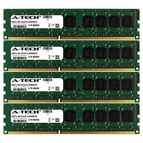 (16GB KIT (4 x 4GB) for HP-Compaq Z Workstation Series Z200 Z400 (4 DIMM Slots) Z400 (6 DIMM Slots). DIMM DDR3 ECC Registered PC3-10600 1333MHz Dual Rank RAM Memory. Genuine A-Tech Brand. )