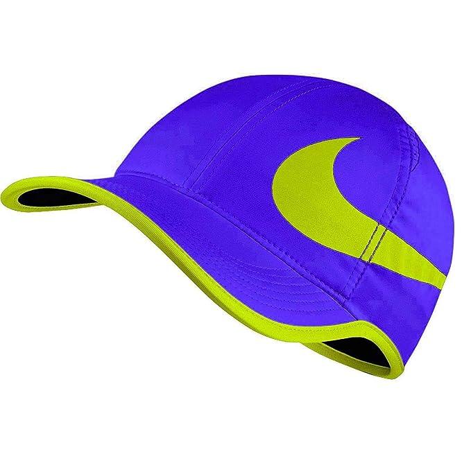 ffba6cfd70170 Nike Unisex Featherlite Aerobill Swoosh Tennis Hat-Paramount Blue Volt- Adjustable