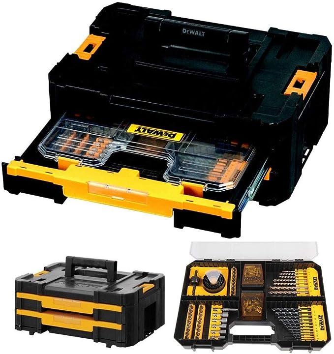 Dewalt DWST1-70706 TStak IV - Caja de herramientas con 2 cajones y juego de accesorios de 100 piezas: Amazon.es: Bricolaje y herramientas
