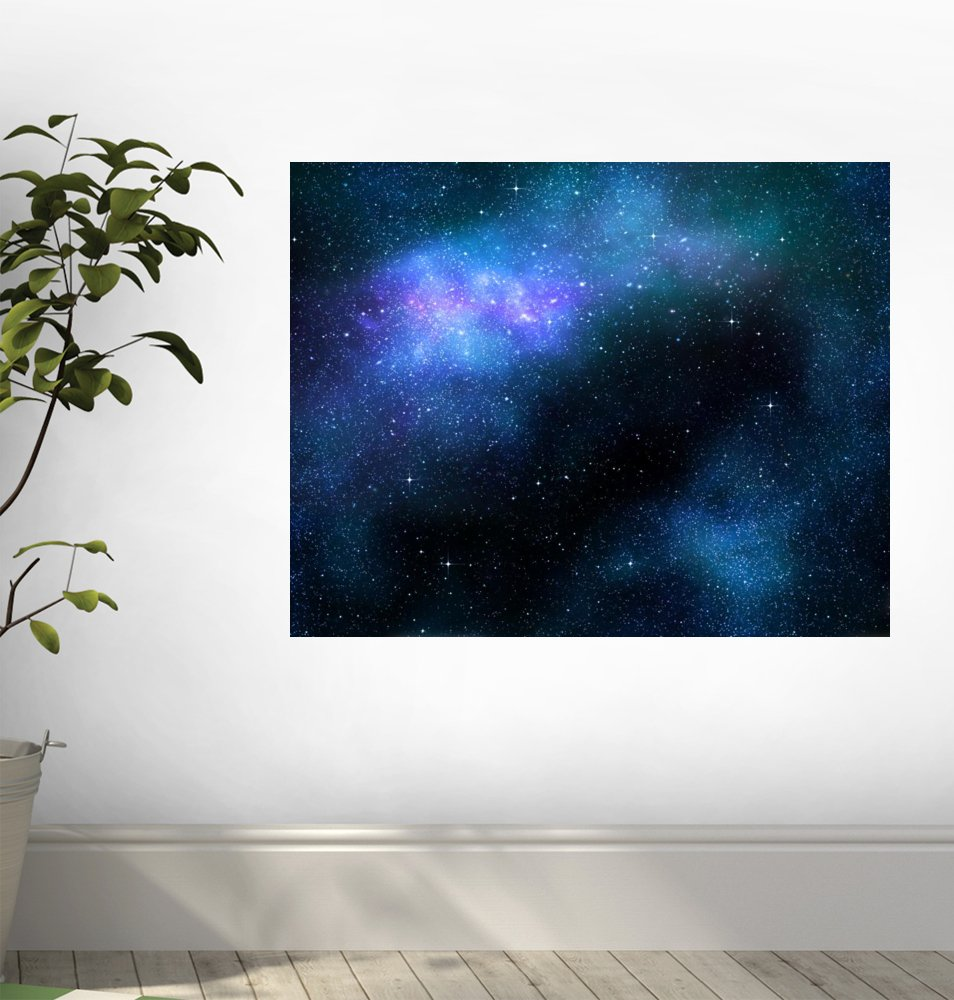 amazon com wallmonkeys starry deep outer space nebula and galaxy amazon com wallmonkeys starry deep outer space nebula and galaxy peel and stick wall decals wm249172 24 in w x 19 in h home kitchen