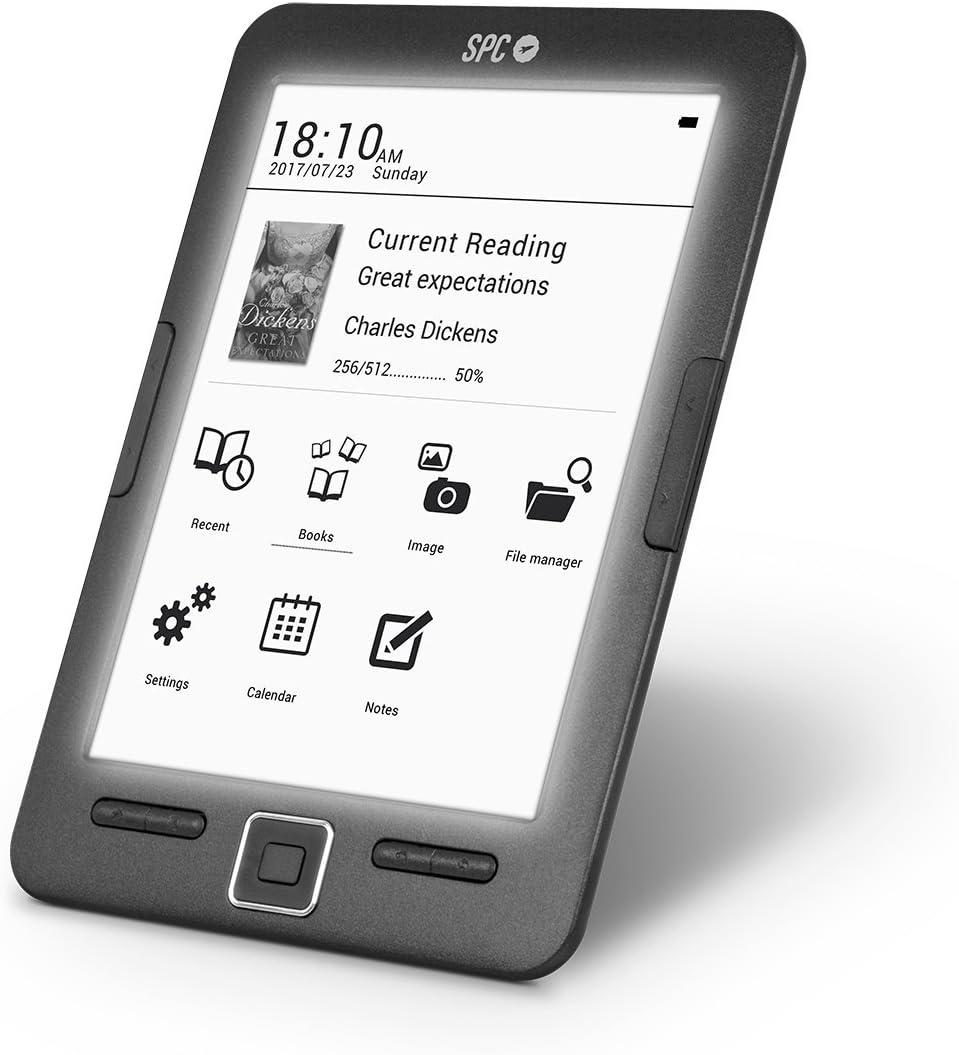 SPC Dickens Light libro electrónico con pantalla iluminada y tinta ...