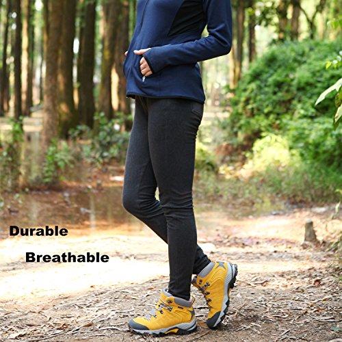 HKM822 Leather Women's Boot Clorts Shoe Yellow Waterproof Hiker Outdoor Hiking Backpacking OzZnBExZ