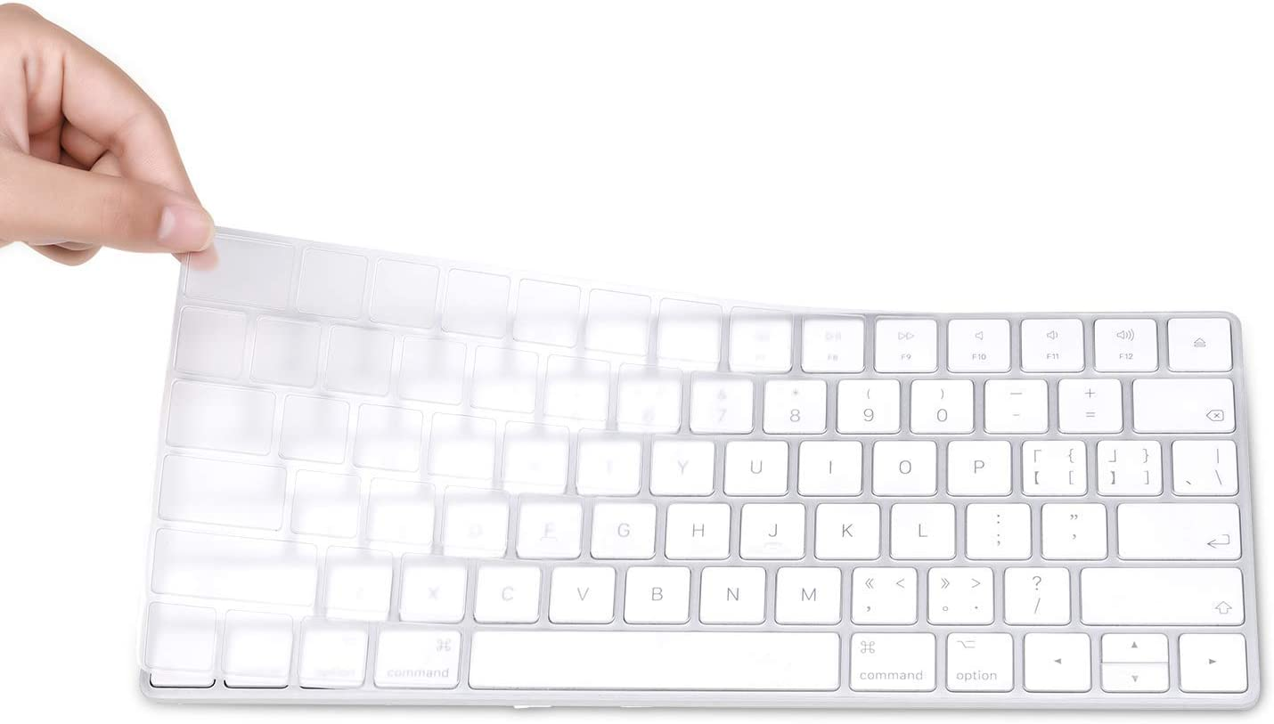 EooCoo Magic Keyboard Cover Skin Protector, Fit for Apple iMac Magic Keyboard MLA22LL/A A1644 - Clear TPU