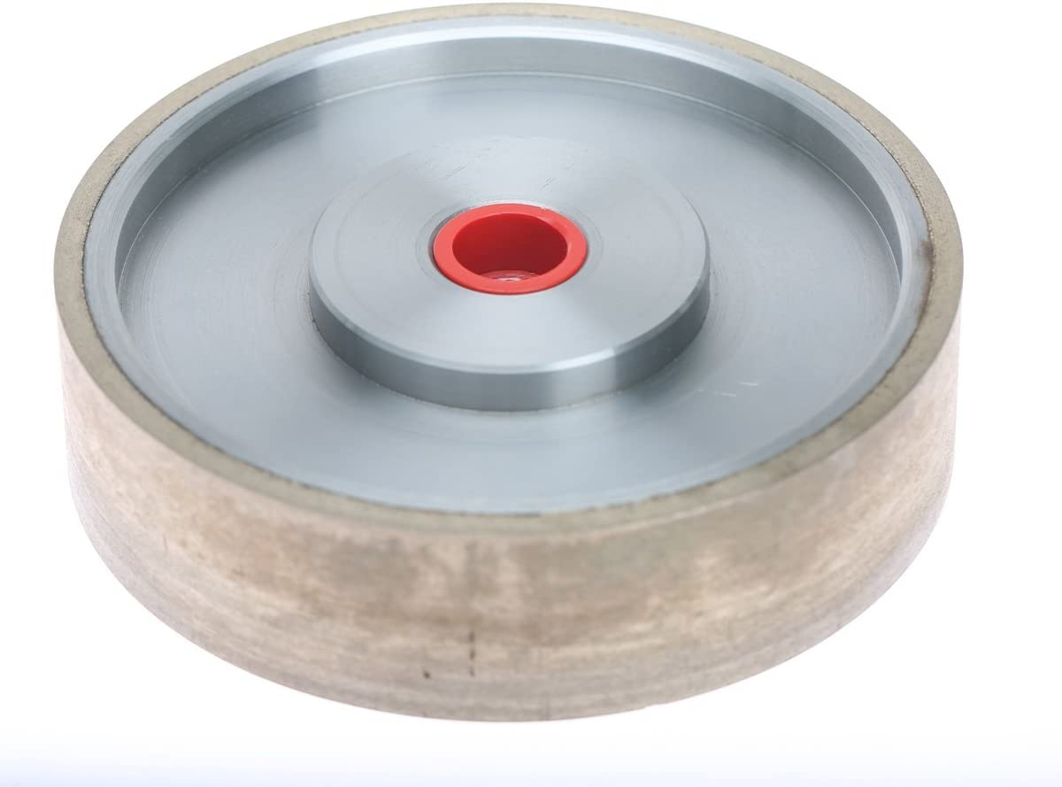 "BUTW 6/"" x 1 1//2/"" wide 60 grit textured diamond lapidary grinding wheel"