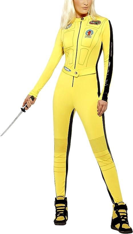 Disfraz de Kill Bill, – Mono amarillo, pequeño, (Reino Unido 8 ...