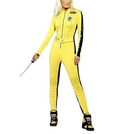 Disfraz de Kill Bill, - Mono amarillo, pequeño, (Reino Unido 8 ...