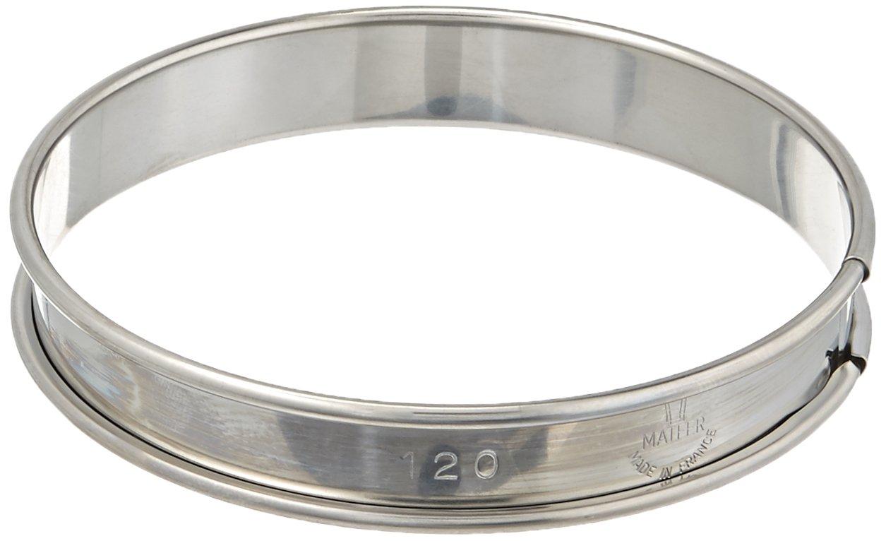 Matfer Bourgeat 371609 Plain Tart Ring, Silver