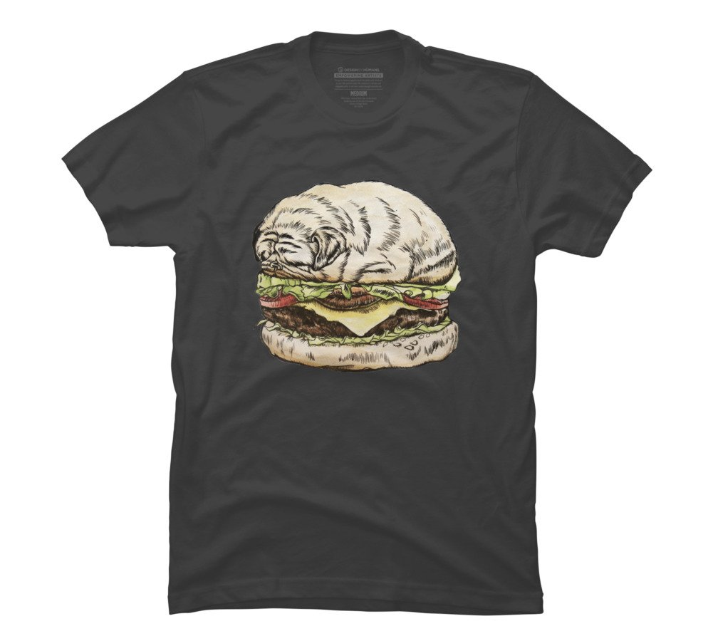 Pug Burger Graphic T Shirt 9671