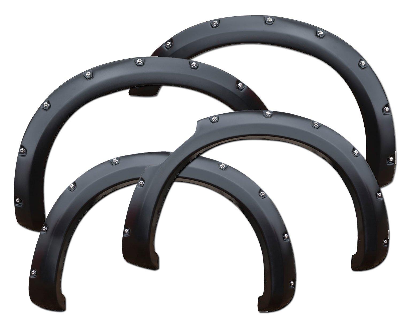 2016-2018 Nissan Titan Rivet Fender Flares Bolt Textured Black Horse Fits