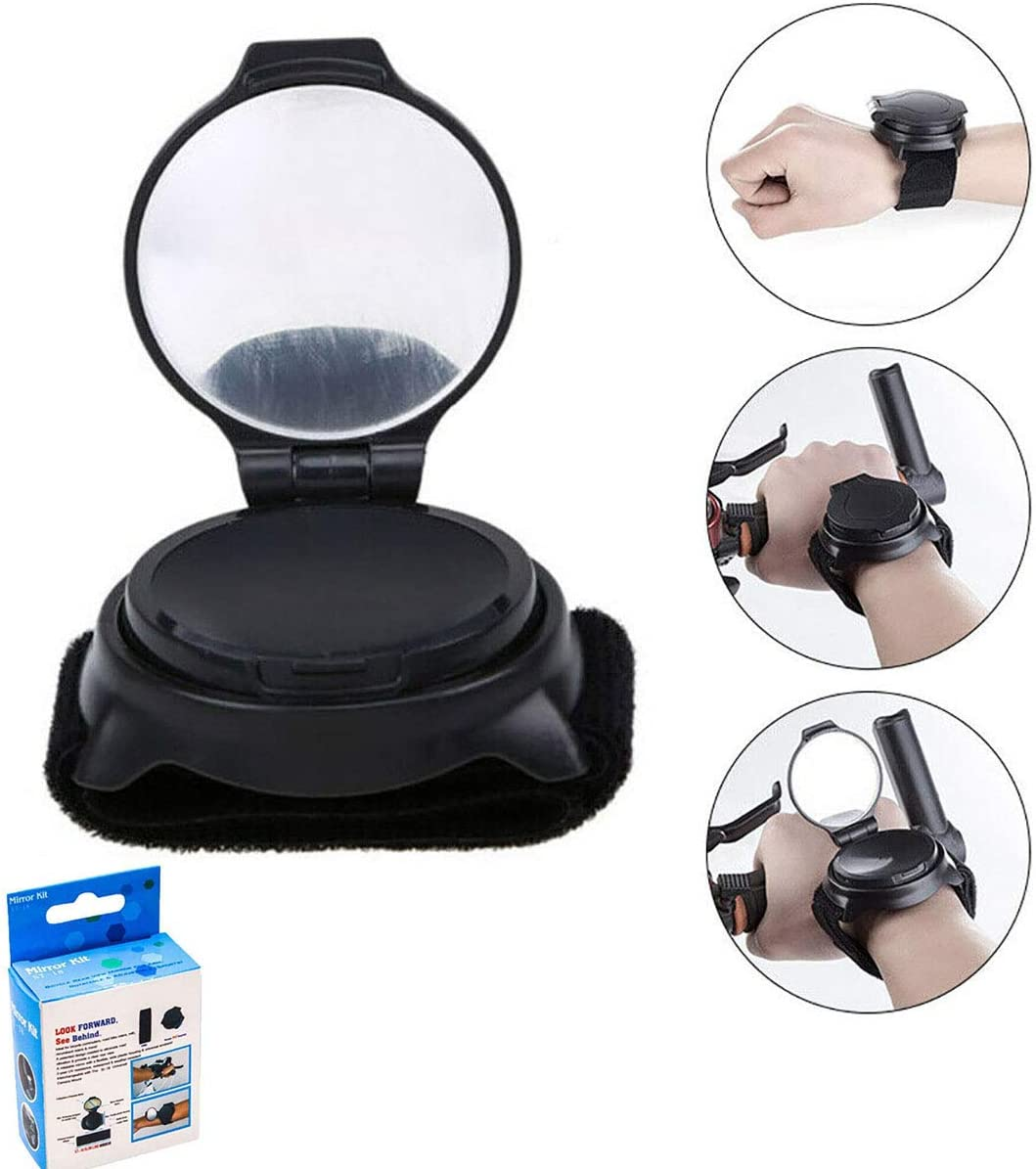 BICYCLE REAR VIEW MIRROR WEARABLE ARM WRIST BAND ADJUSTABLE 360° ROTATE FUNNY