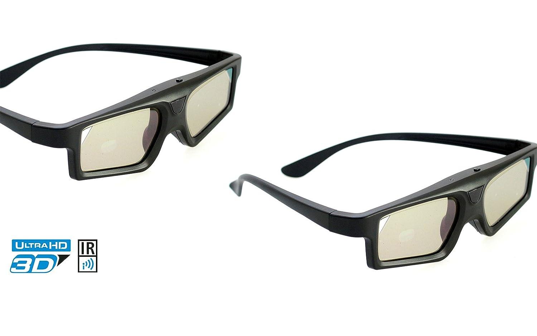PRECORN 3D Active Infrarot Shutter-Brille Universal-Brille f/ür Panasonic Sony Samsung Philips uvm.