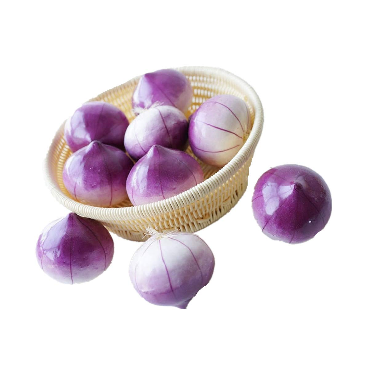XINFU 3pcs Fake Onion Lifelike Natural Artificil Oinion Fake Vegetable for Home Kitchen Shop Decoration by XINFU