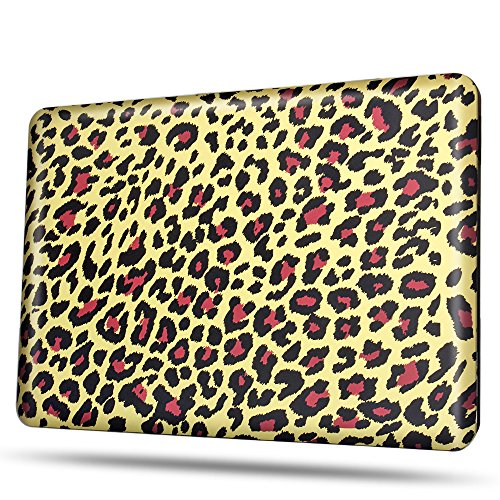 TNP MacBook Air 11 Case [Leopard Brown Pattern] - Soft-Touch Plastic Matte Hard Shell Protective Case Cover Skin for Apple MacBook Air 11 Inch A1370 ()