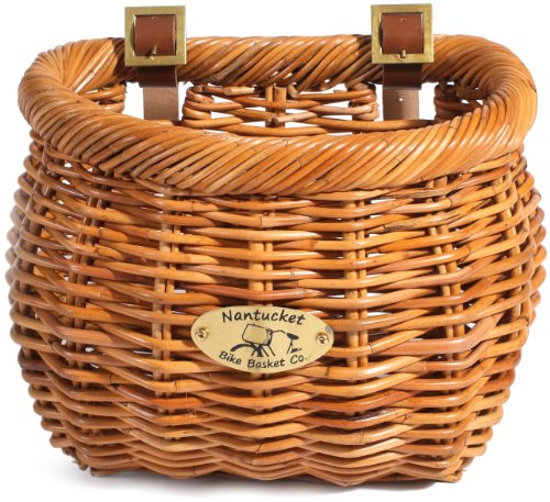 Nantucket Bike Basket Co Cisco Collection Classic/Tapered Bicycle Basket (Tan,11.5 x 9.5