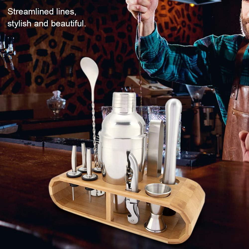 Wifehelper Ensemble de Shaker /à Cocktail en Acier Inoxydable pour Barman