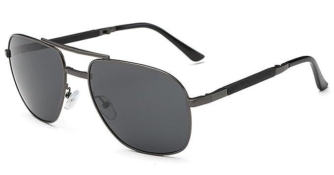 26cda78f5e MEWENTY Aoron - Gafas de sol unisex polarizadas plegables de metal, diseño  de aviador: Amazon.es: Ropa y accesorios