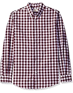 Men's No Wrinkle Long Sleeve Button-Front Shirt