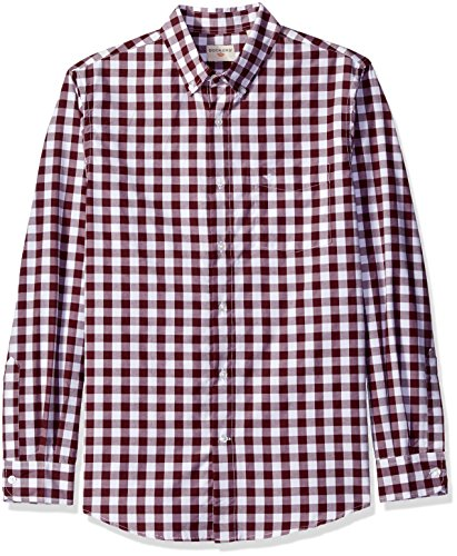 590bf1342c8 Dockers Men s Long Sleeve No Wrinkle Signature Gingham Button Down Collar  Spade Pocket Shirt