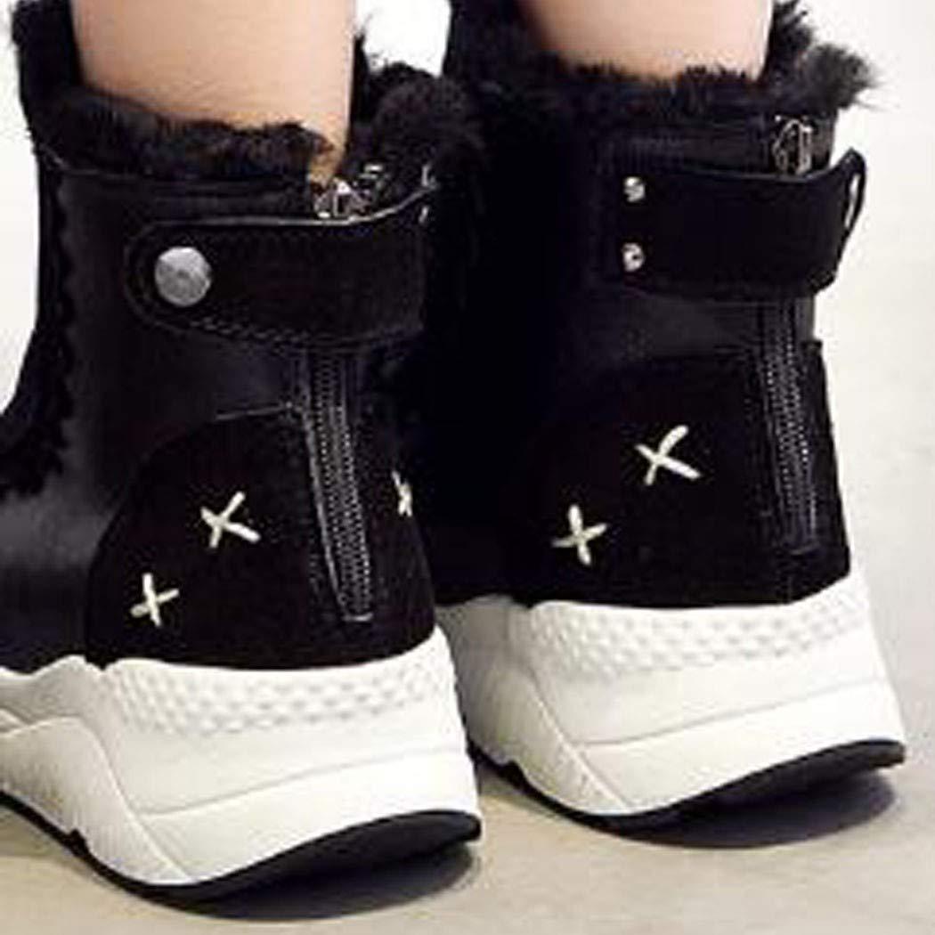 Jiang-zx Damenschuhe, Kurze Röhre Schnee Stiefel Damen Damen Damen Leder Winter Martin Stiefel Damen Stiefel und SAMT Baumwolle Schuhe b5d23c