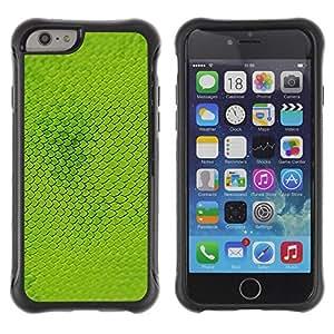 Paccase / Suave TPU GEL Caso Carcasa de Protección Funda para - Scales Nature Green Pattern Plant - Apple Iphone 6 PLUS 5.5