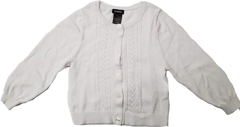 ZUNIE Girls Knit Cardigan White
