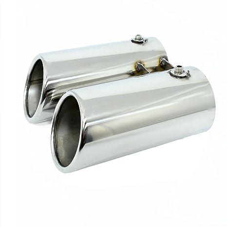 Carparts-Online 29901 Sport Auspuff Endrohre Blenden Edelstahl 76mm rund Paar
