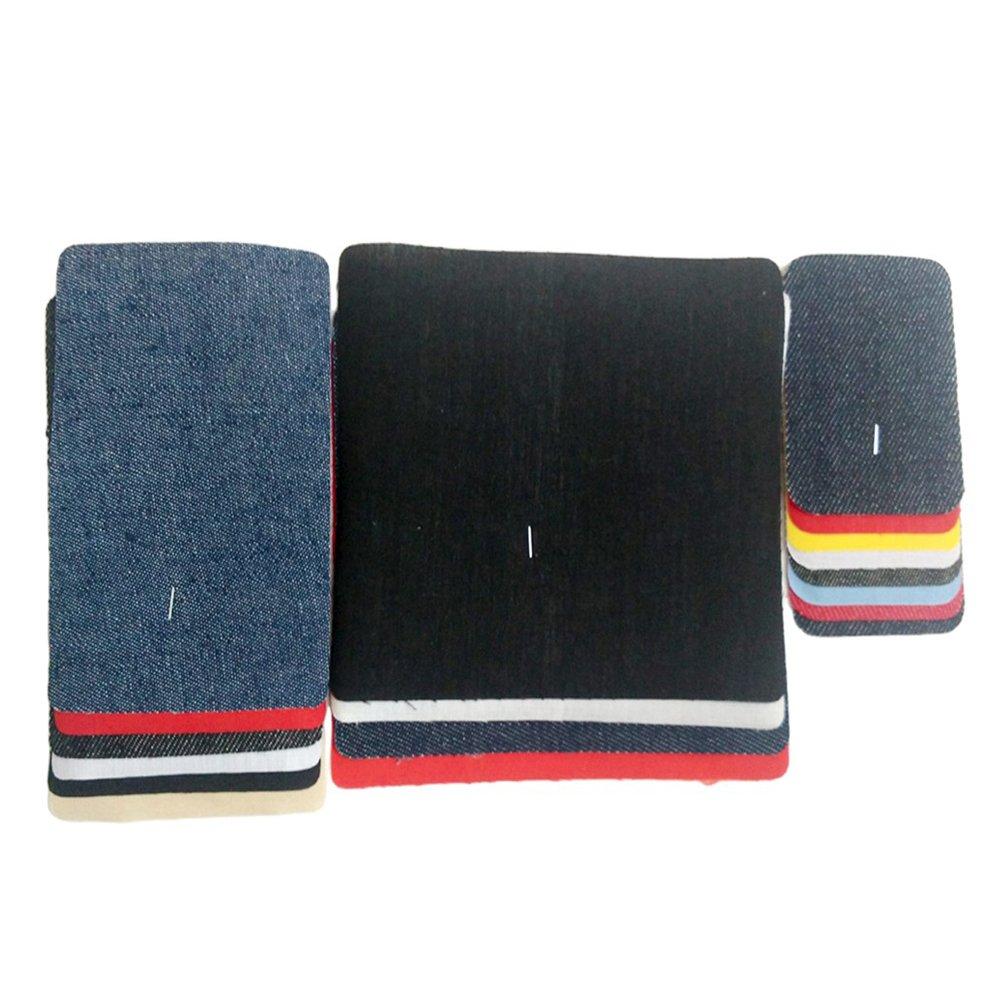 OPEN BUY 18 Coderas rodilleras parches multicolor termoadhesivos aplique para chaquetas, camisas, cazadoras, pantalones, jerseys, americanas, nuevo look y reparacion de ropa en 10 segundos